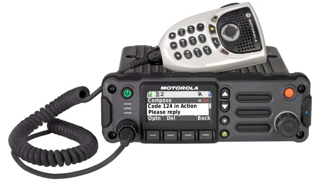 APX 2500 MOBILE RADIO Flexible, Space Saving Design - Space saving design allows for easier installation where real-estate is a premium - Flexible solution is compatible with O2, O3 and O7 control