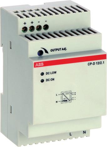 This range offers devices with output voltages of 12 V DC and 24 V DC at output currents of 0.42 A