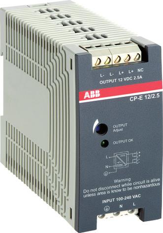 CP-E range Ordering details Description This range offers types with output voltages from 5 V DC to 48 V DC at output currents of 0.625 A to 20 A.