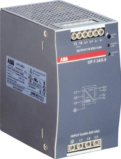 CP-T range Ordering details Description The CP-T range of three-phase power supply units is the youngest member of ABB s power supply family.