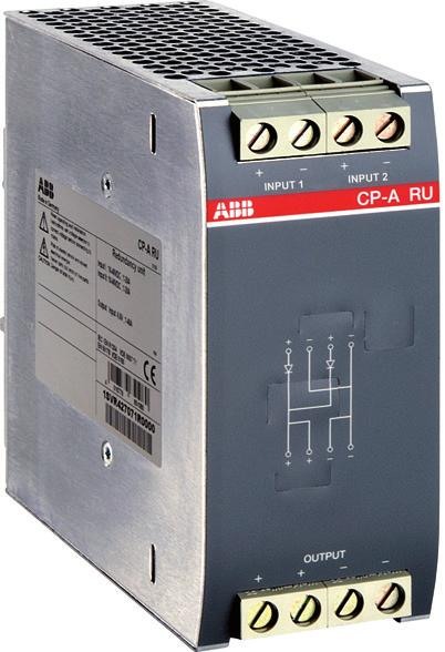 + CP-A CM 2CDC 271 00 F0005 2 inputs each up to 20 A and 1 output up to 40 A Control module for CP-A RU redundancy