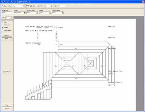 Printing your Roof Plan Lesson 1: Introduction Printing your Roof Plan Tip! For information on saving images to be viewed and modified in other CAD programs (.dfx files) or popular graphic program (.