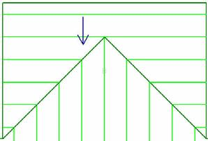 Every line on roof A matches up with a line on roof B. However, on closer inspection, you can see that rows on roof A line up with different rows on roof B.