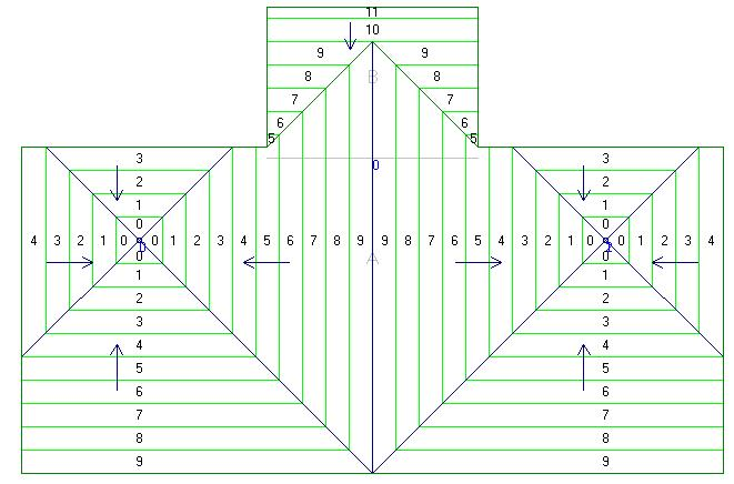 LWC-Plus 9.0 Learning Guide Figure 5 21 Completed roof plan You have completed Lesson 5.