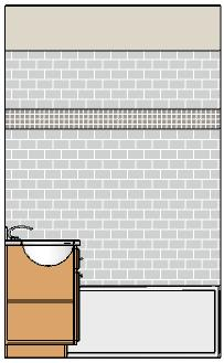 Working in Cross Section/Elevation Views If you want to adjust how the tile materials are mapped to the wall surface, see Determining the