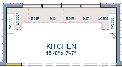 "In this example, a crown molding profile with a Height of 2 1/2"", a Width of 2 1/2"", and a Vertical Offset of - 2 1/2"" is used. For more details, see To add crown molding to a room on page 7."
