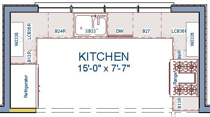 Creating a Cabinet Island To edit appliances in the Fixture Specification dialog 1. Select the refrigerator and click the Open Object edit button to open the Fixture Specification dialog. 2.