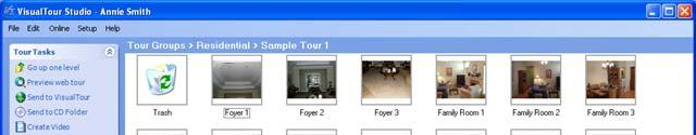 Your Front View panoramic has been added to your sample tour (bottom right).