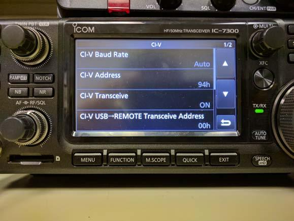 When set to Auto (default setting), the radio will set itself to the data rate set in the software.