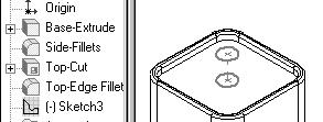Engineering Design with SolidWorks Create the BATTERYPLATE Delete and Edit Features Create two holes.