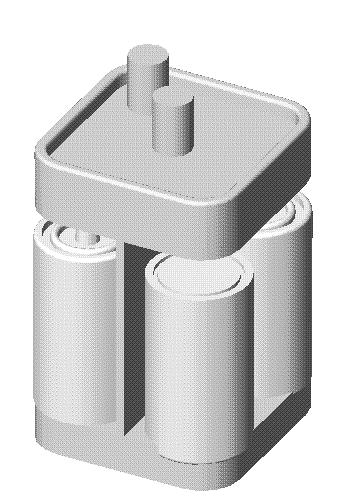 Engineering Design with SolidWorks A single 6-volt lantern battery is approximately 25% higher in cost and 35% more in weight.