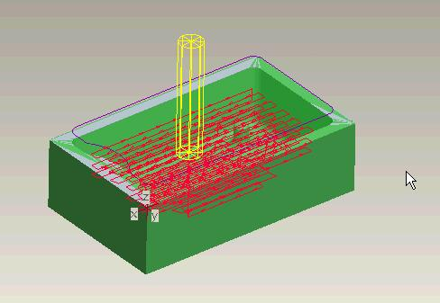 To see the result of this machining exercise choose PLAY PATH SCREEN PLAY.