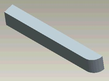 Next create an extrusion (INSERT > EXTRUDE).