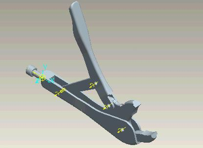 In real mole grips the screw position would not change when moving the handle. How can we make this work correctly? Go to APPLICATIONS > MECHANISMS and MECHANISM > DRAG and notice the DRAG dialog box.