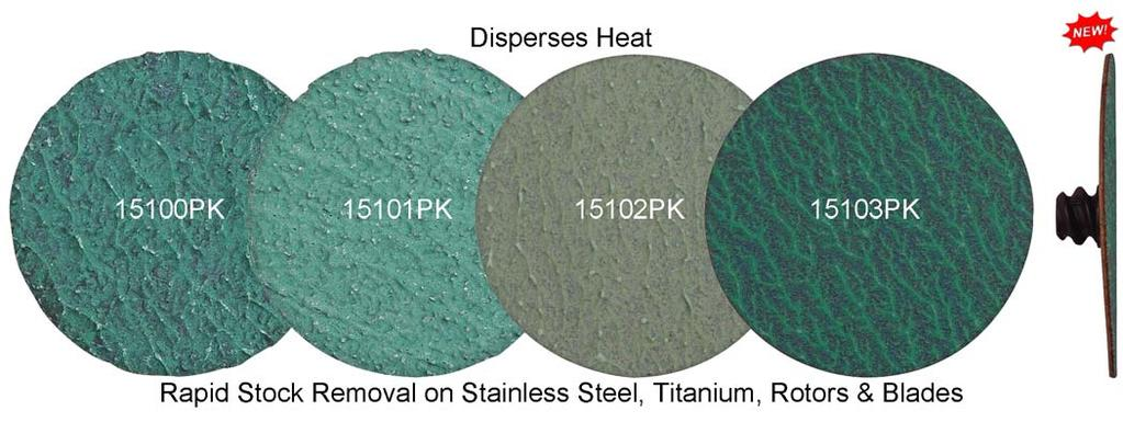 "2"" Disc Green Zirconia Surface Removal Part # Diameter Grit Grain Qty. New 15100PK 2"" 24 Self Sharpening 25 Pcs."
