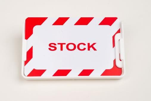 MODUL-iT plastic stock card Article no: 920009-00011 MODUL-iT plastic stock card with red & white framework, to be used with the label holder 121001-12102 and 121006-12102. Dim.