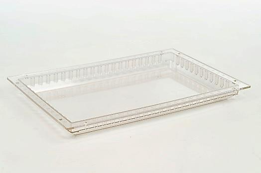 MODUL-iT Tray 60x40x5 cm Light grey Article no: 106405-10100 MODUL-iT tray (ISO) in ABS, light grey, injection molded. Can be stacked, nested and divided in both directions. Dim.