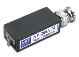 TRADITIONAL CCTV PRODUCT DESCRIPTIONS Single and Four Channel Products NV-208A-M Video Transceiver Single channel passive transceiver Screwless terminal video termination No power required Supports