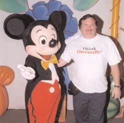 Chris McGrath, of Caraustar Industries, and Mickey Mouse were Thinking Thermally at Disney World.