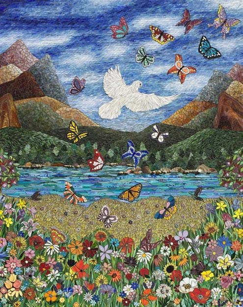 Serenity Robin Moyher creates a serene garden with the unexpected help of mosaic artists worldwide.