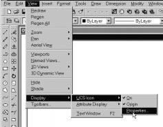 1-12 AutoCAD LT 2002 Tutorial Changing to the 2D UCS icon Display In AutoCAD 2002 LT, the UCS icon is displayed in
