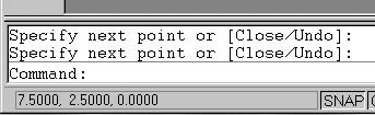 1-8 AutoCAD LT 2002 Tutorial 2. Move the cursor inside the graphics window, and move the cursor diagonally on the screen.