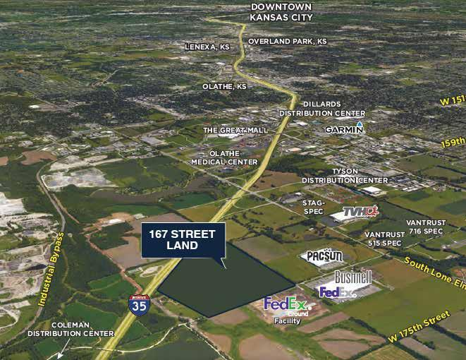 DEAL PIPELINE 167 STREET LAND Olathe, Kansas 127 acres Odyssey has partnered with Meyer Companies to master plan and