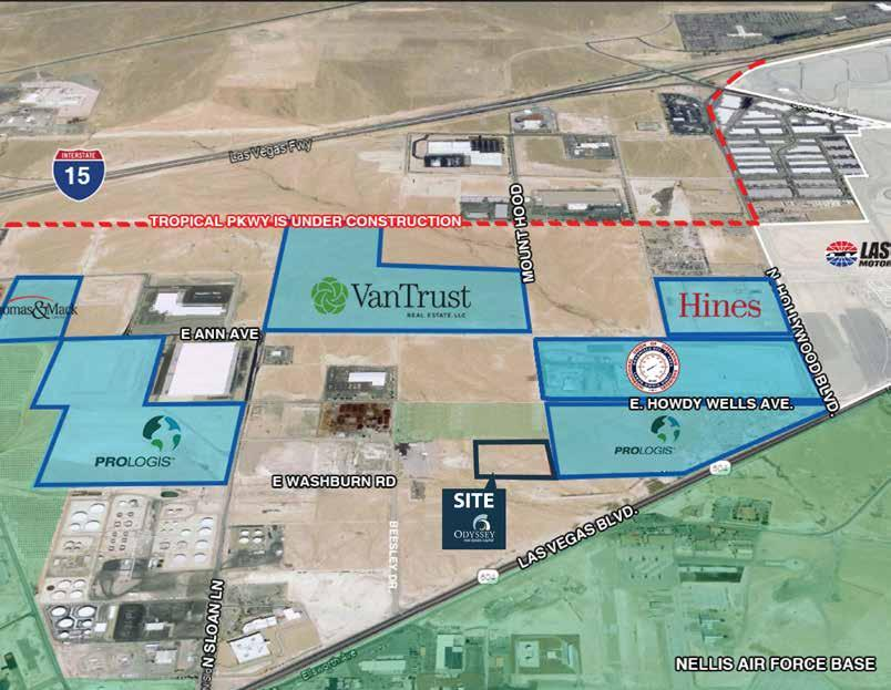 DEAL PIPELINE ODYSSEY MT HOOD LAND Las Vegas, Nevada 10 acres Odyssey purchased 10 acres of land next to the Las Vegas Motor Speedway.