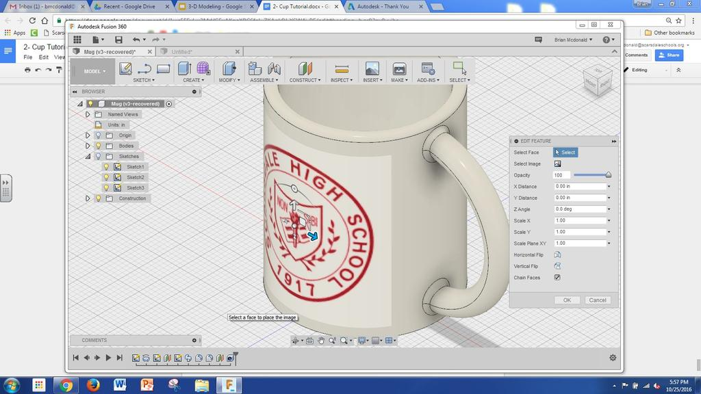 Mug Extension- Adding a Picture To Your Mug SHS Design Lab Most mugs have a saying or a picture on them, so why not your mug?