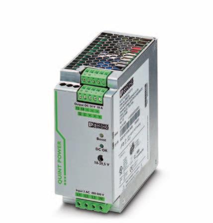 Primary-switched power supply with SFB technology, 3 AC, output current 10 A INTERFACE Data sheet 103131_en_01 1 Description PHOENIX CONTACT - 09/2009 Features QUINT POWER power supply units Maximum