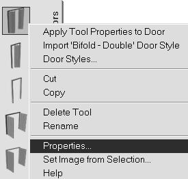TIP: To create a freestanding door, press the ENTER key when prompted to pick a wall.