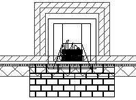 7. Place the fireplace into the family room wall. 8. Use the 3D Orbit tool to inspect how the fireplace appears.