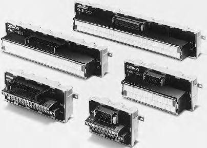Through-type Connector-Terminal Block Conversion Units XWB Simplifies Connector and terminal block replacement, and requires less in-panel wiring. Mount to DIN Track or via screws.