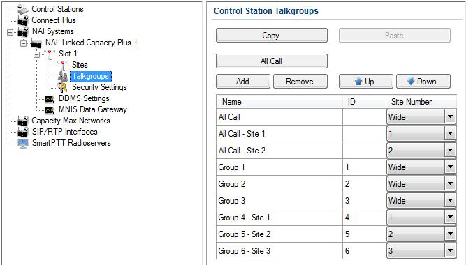 It is important to specify all talkgroups supported by the system in SmartPTT Radioserver Configurator.