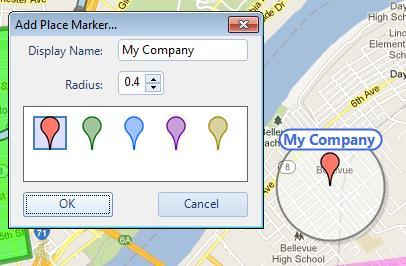 Map Type Button Click the Map Type button to list Map Types that have been enabled by the System Administrator.