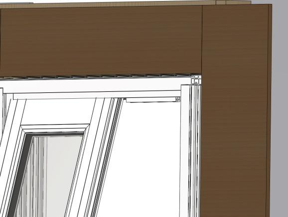 2) Swing the bottom of the sash panel over the sill.