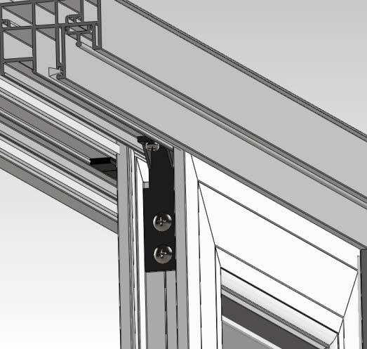 2) Insert the Fixed Panel Bracket as show below.