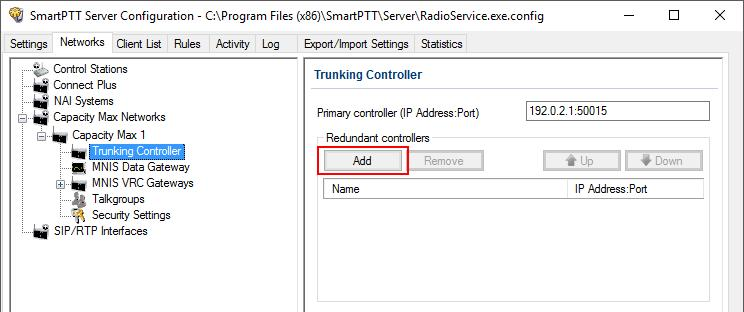 Management application. 2. In your network select Trunking controller. 3.