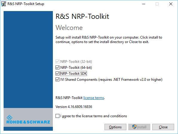 "Operating Concepts Browser-Based User Interface 3. Accept the license terms to continue with the installation. 4. Click ""Next"" and complete the installation process. 4.1.3.1 Performing a Firmware Update The Firmware Update for NRP Family program is part of the R&S NRP Toolkit for Windows."