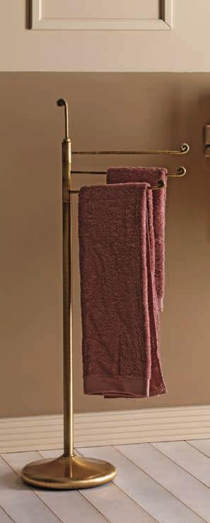 Free-standing towel-holder with 3 bars H.