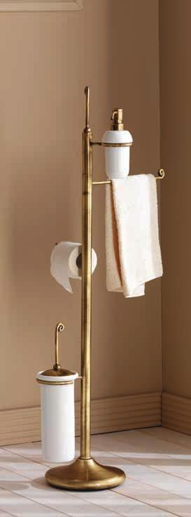 sapone Free-standing towel/soap-holder H.