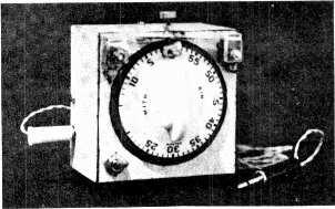 TIMER The prototype timing unit. This photograph was taken before the addition of the 'switch -on' contact. by R.L.