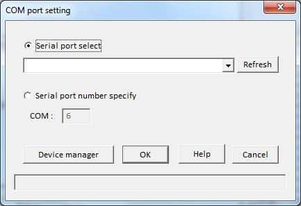 Communication port setting When starting the WIRES-X software for the first time or when the communication port is changed, the COM port setting window will appear.