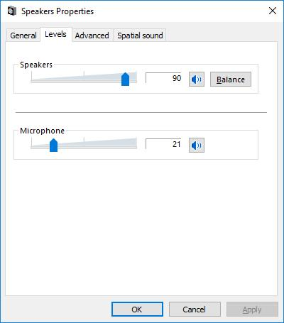 6. This setting is necessary only when using the FT2D transceiver Click the [Levels] tab on the Speakers Properties screen, then adjust the volume level of Microphone so that the volume of the other