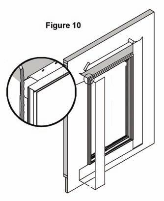 Frame Installation Before installation check door to make sure unit is complete and without defects. Corner gussets should be placed at the nailing fin corners of units.