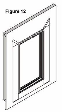 Place door into opening, press tight to building and check for square, level, and plumb (fig.7). The installer is responsible to install doors square, level & plumb.