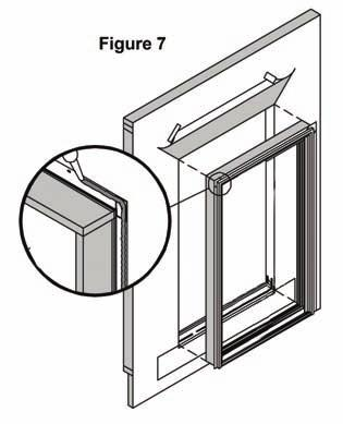 This will provide you with the ability to adjust the unit while keeping the door in place (fig.8). Lincoln Wood Products Inc.