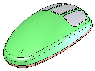 Product Modelling in Solid Works In the following exercise you will use solid works to construct the computer mouse shown opposite.