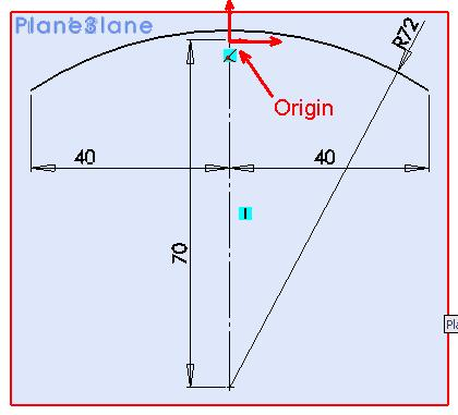 Using the front plane as the basis, construct 3 parallel planes to the left and right at the distances specified Plane 1: 50mm to the left Plane