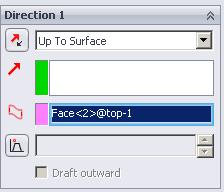 Alternative approach Using the offset from surface option has been a recurring problem, whereby SolidWorks will not offset